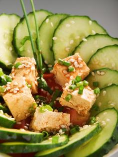 Ensalada de tofu FANYA con pepino
