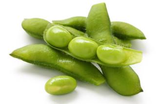 Soja en estado verde